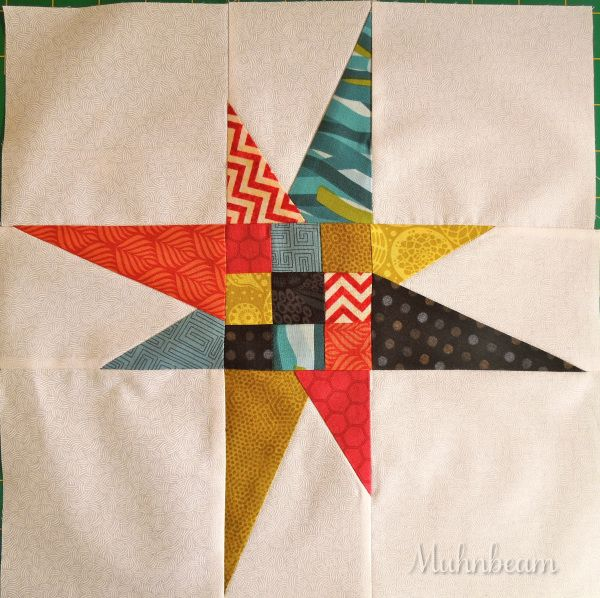 Fifth Block: Wonky 9-Patch Star #starquiltblocks