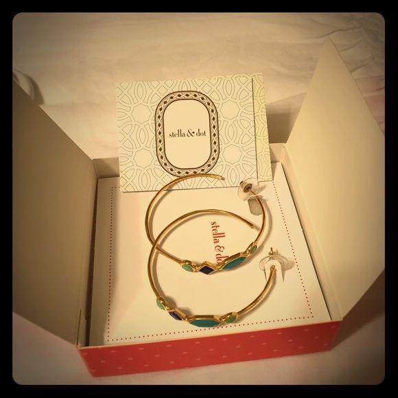 Stella and Dot earrings Beautiful! 12k gold Stella & Dot Jewelry Earrings