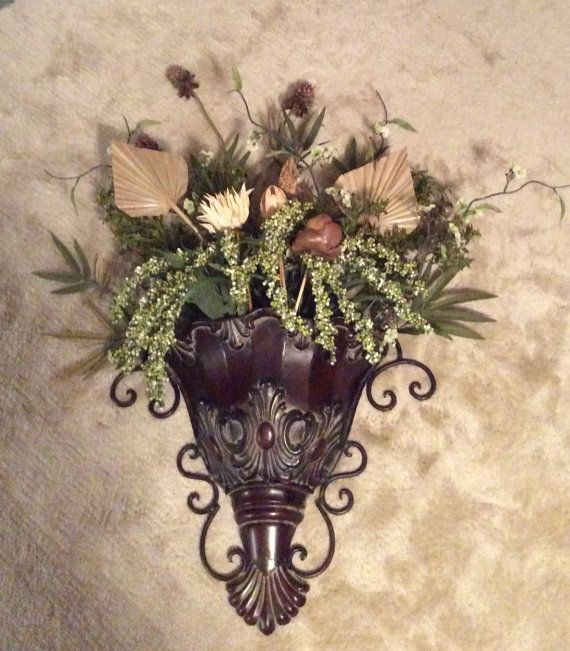 Floral wall sconce by joycescreativedesign on etsy home decor floral wall sconce by joycescreativedesign on etsy mightylinksfo Image collections