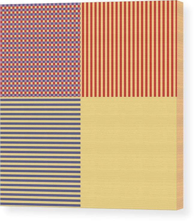 Geometric Art 443 Wood Print by Bill Owen.  All wood prints are professionally printed, packaged, and shipped within 3 - 4 business days and delivered ready-to-hang on your wall. Choose from multiple sizes and mounting options.