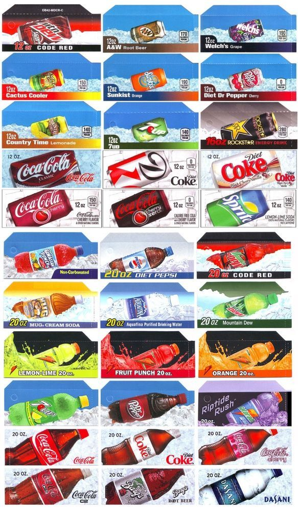 image about Free Printable Vending Machine Labels called Qty 33, style strips for soda equipment, suits Vendo, Dixie