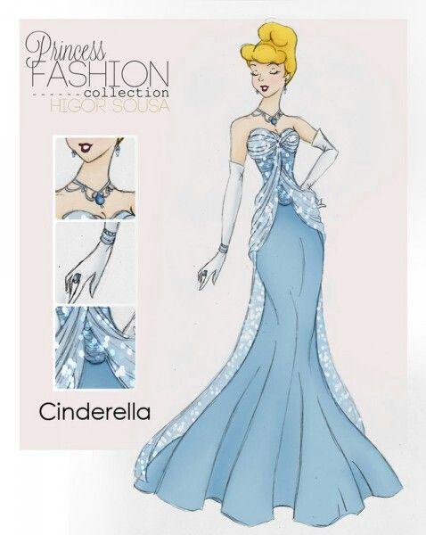 Los vestidos de las princesas actualizados moy Lindo! CENICIENTA..✌✌