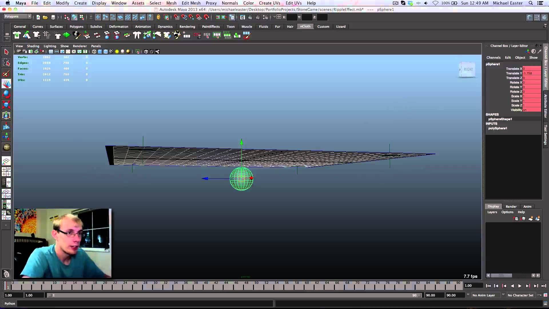 Water Ripple Effect nCloth Maya Tutorial | Tutorials | Maya