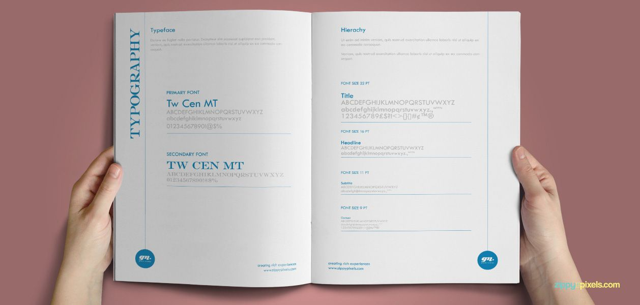 The Minimalistic u2013 Brand Guidelines Template - Typography - sample user manual template