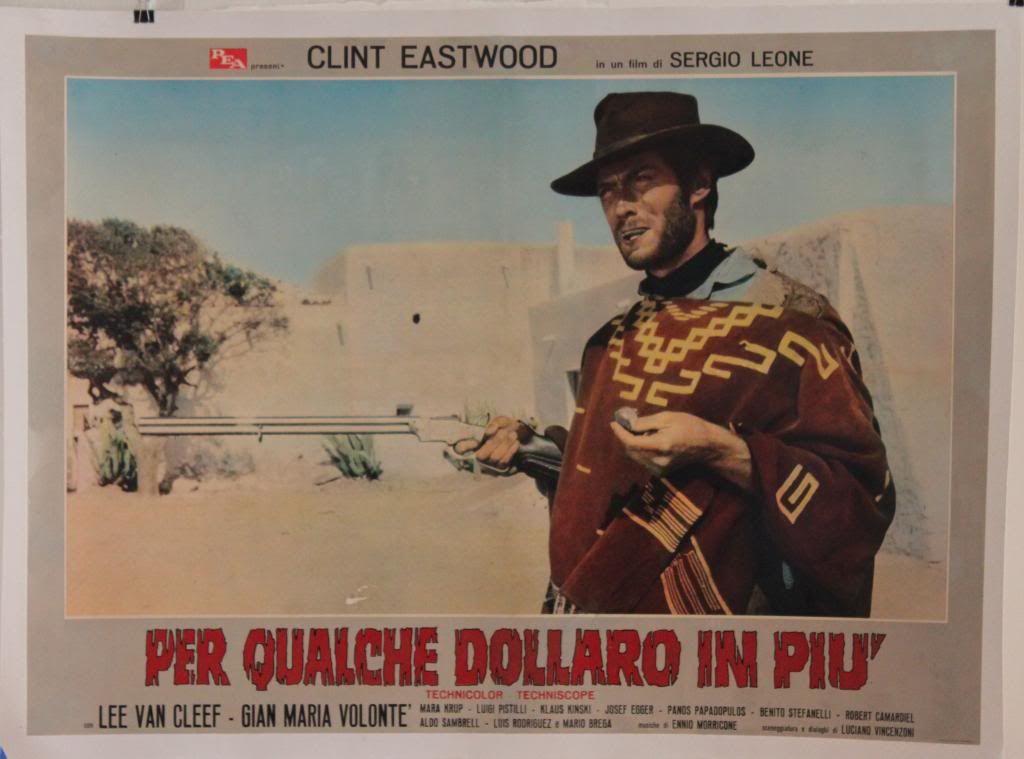 """""""Per qualche dollaro in più (For a Few Dollars More)"""" - Italian photobusta"""