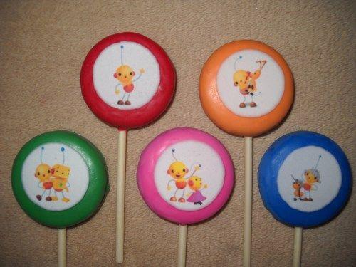 1 chocolate rolie polie olie edible decal oreo lollipops lollipop | sapphirechocolates - Edibles on ArtFire