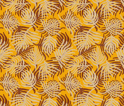 madamoiselle_temple_leaf fabric by holli_zollinger on Spoonflower - custom fabric