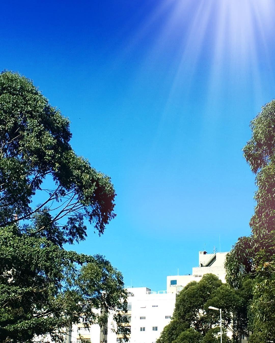 Flagra do dia lindo com céu azul em São Paulo {} Nada como o sol nos dias de inverno... #soldeinverno #sãopaulo #blessed #chriscastro #instaglam #instagood #picoftheday #happy #goodvibes #quoteoftheday #dujour #galery #view #life #enjoyinglife #amicasbloggers
