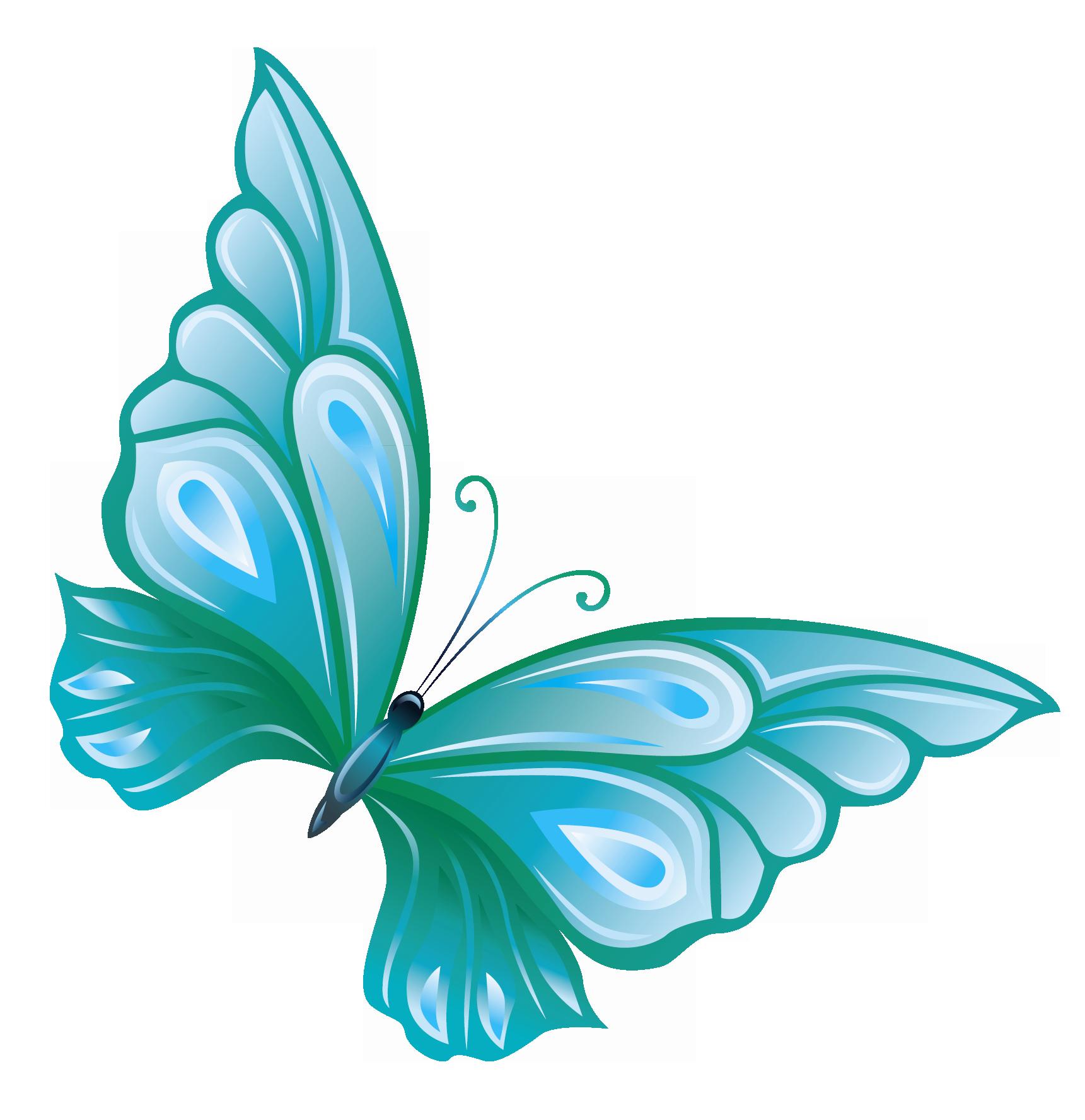 Light Blue Butterfly Clipart Clipart Panda Free