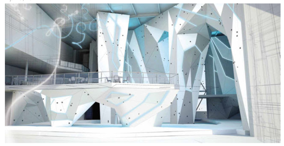 Pretty walltopia design, love the bouldering/rope section delineation.