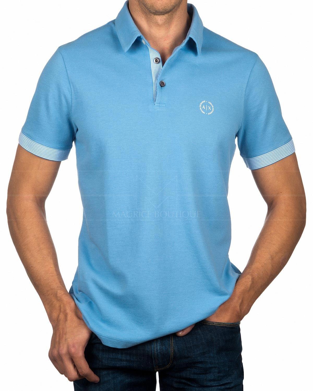 4a9a8a13 Polo Shirt Armani Exchange - Sky Blue in 2019   pk   Polo, Polo ...