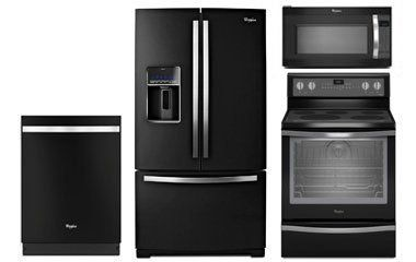 Whirlpool Gold Black Ice Liance Package With Electric Range