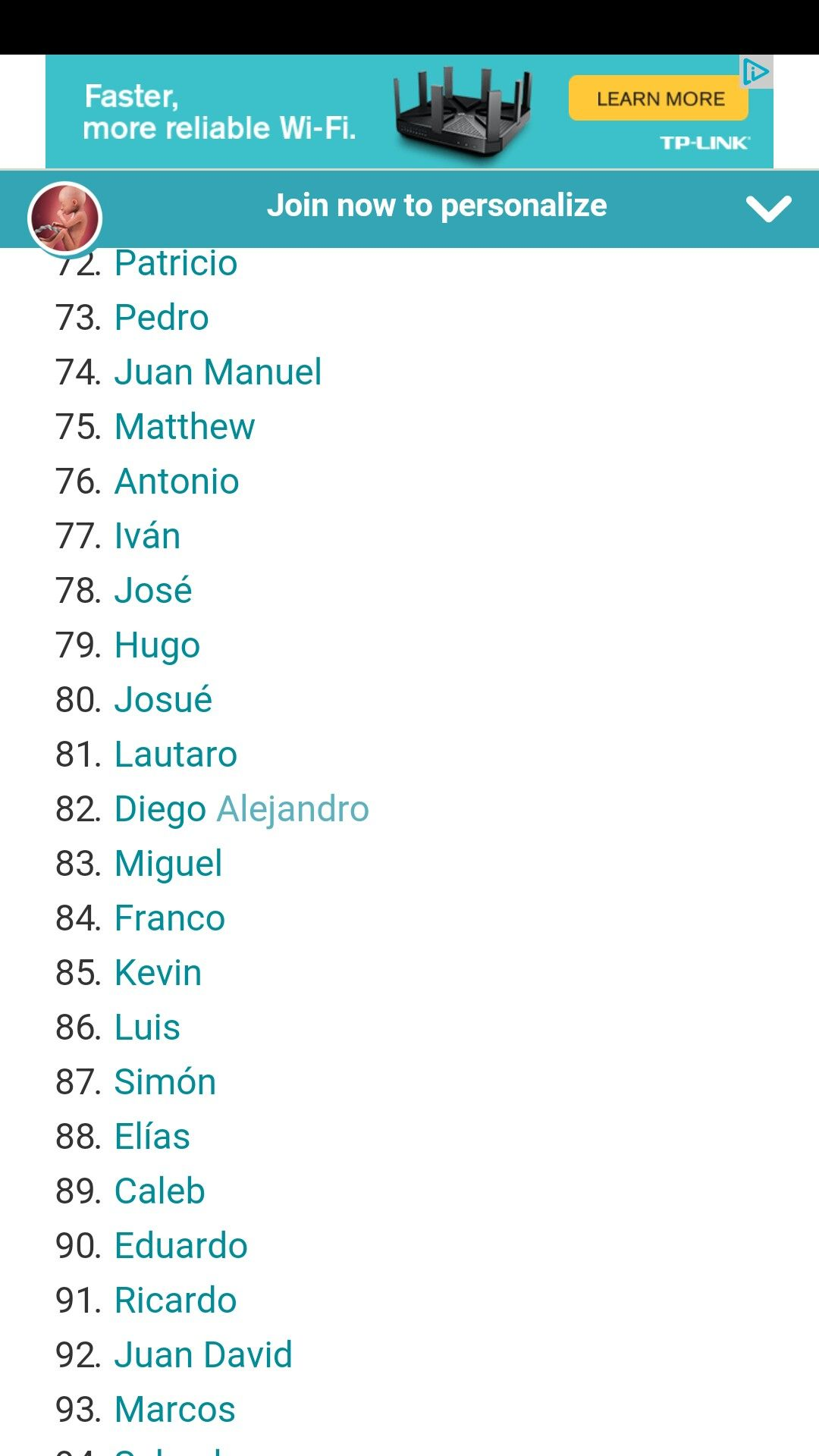 Spanish Male Names Tp Link Jose Learning