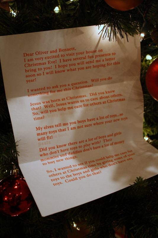 Christmas Letter From Santa To Give Toys To Other Children Also