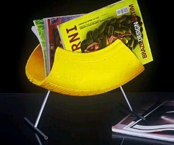 Porta revista colorido...