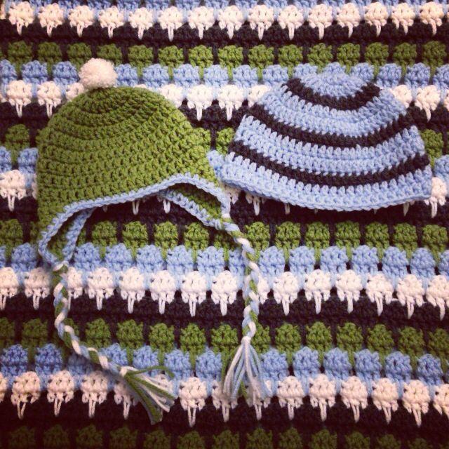 Larksfoot crochet blanket and hats I made   CROCHET - LARKSFOOT ...