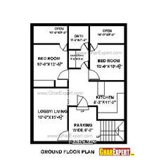 House Plan For 28 Feet By 35 Feet Plot Plot Size 109 Square Yards House Map Simple House Plans Small House Layout