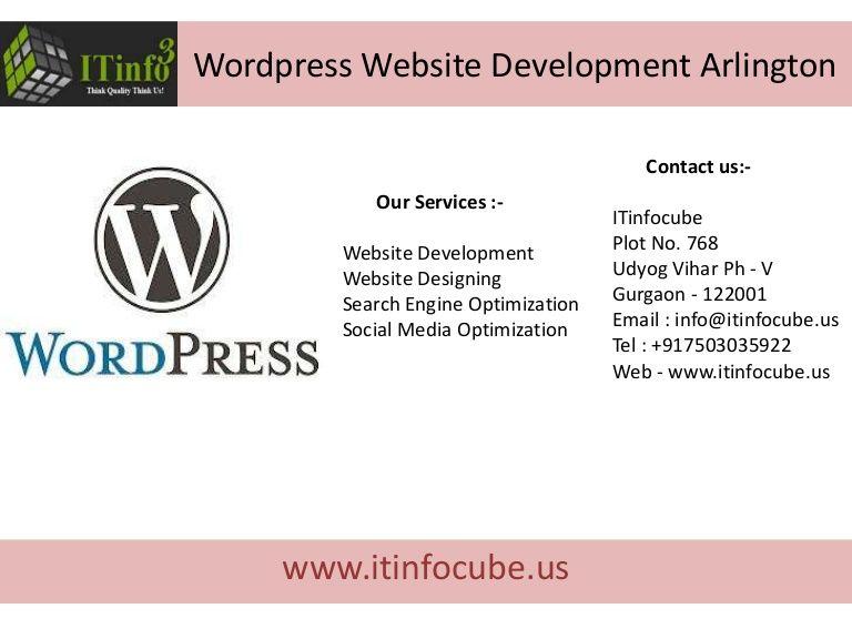 Wordpress Website Development Arlington By Bhupendra Rajput Via Slideshare Web Development Usa Website Design Cheap Seo India Wordpress Website Developm