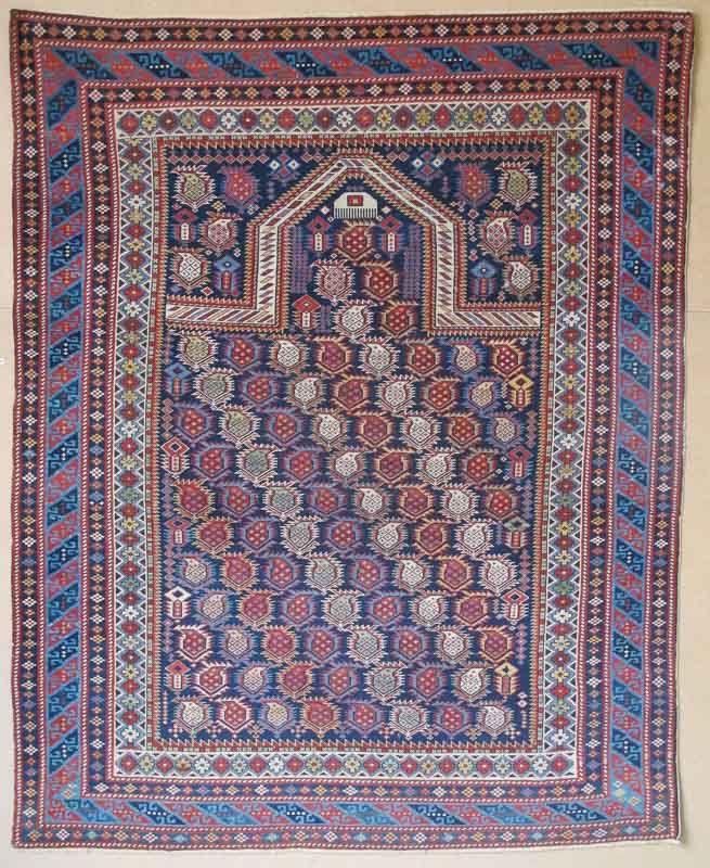 Marasali Prayer Rug Caucasus Circa 1870 1 42m X 15m Exhibitor Aaron Nejad Vienna Jozan