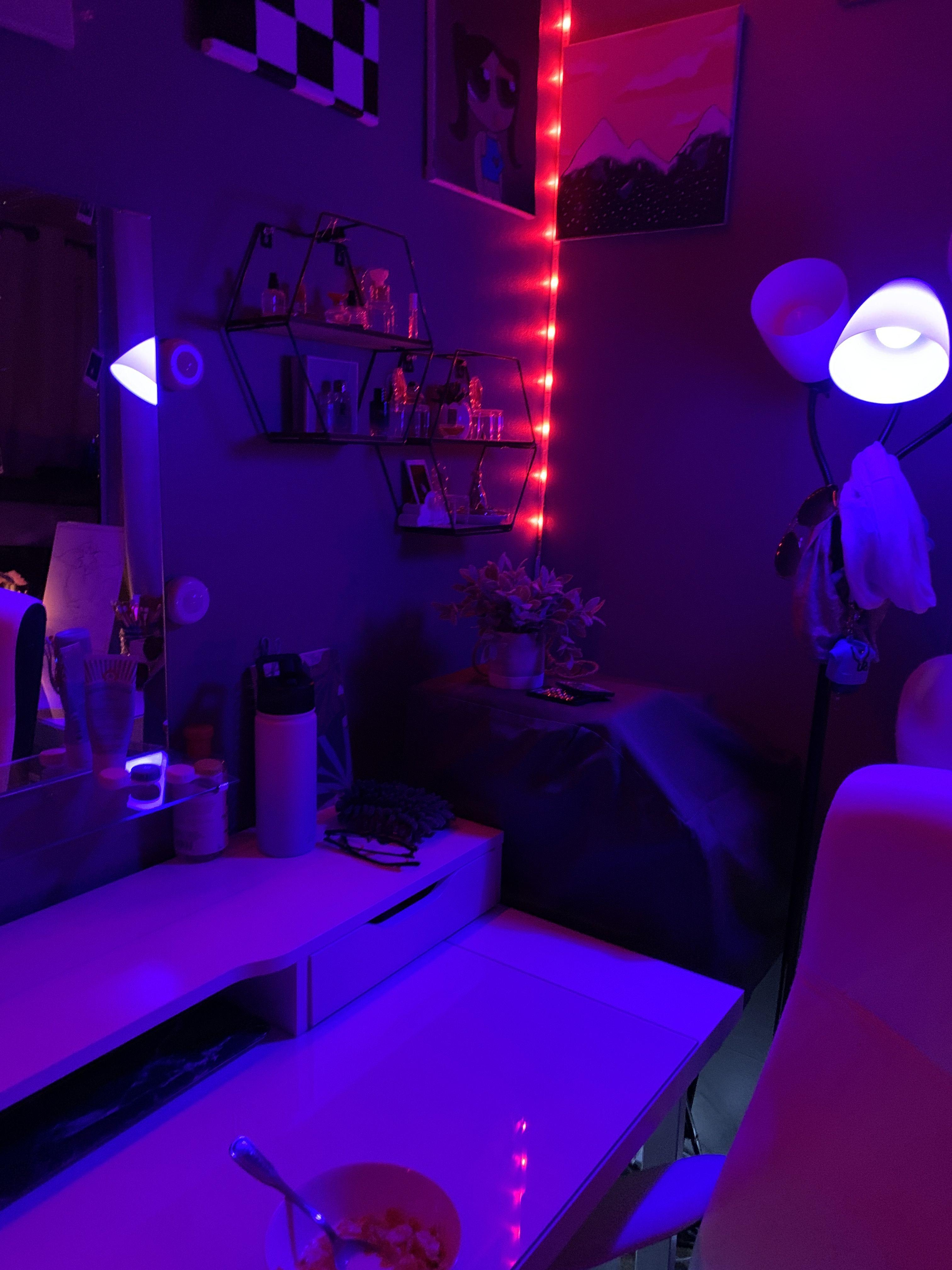 Homemade Art Room in 2020 Homemade art, Art room, Led lights
