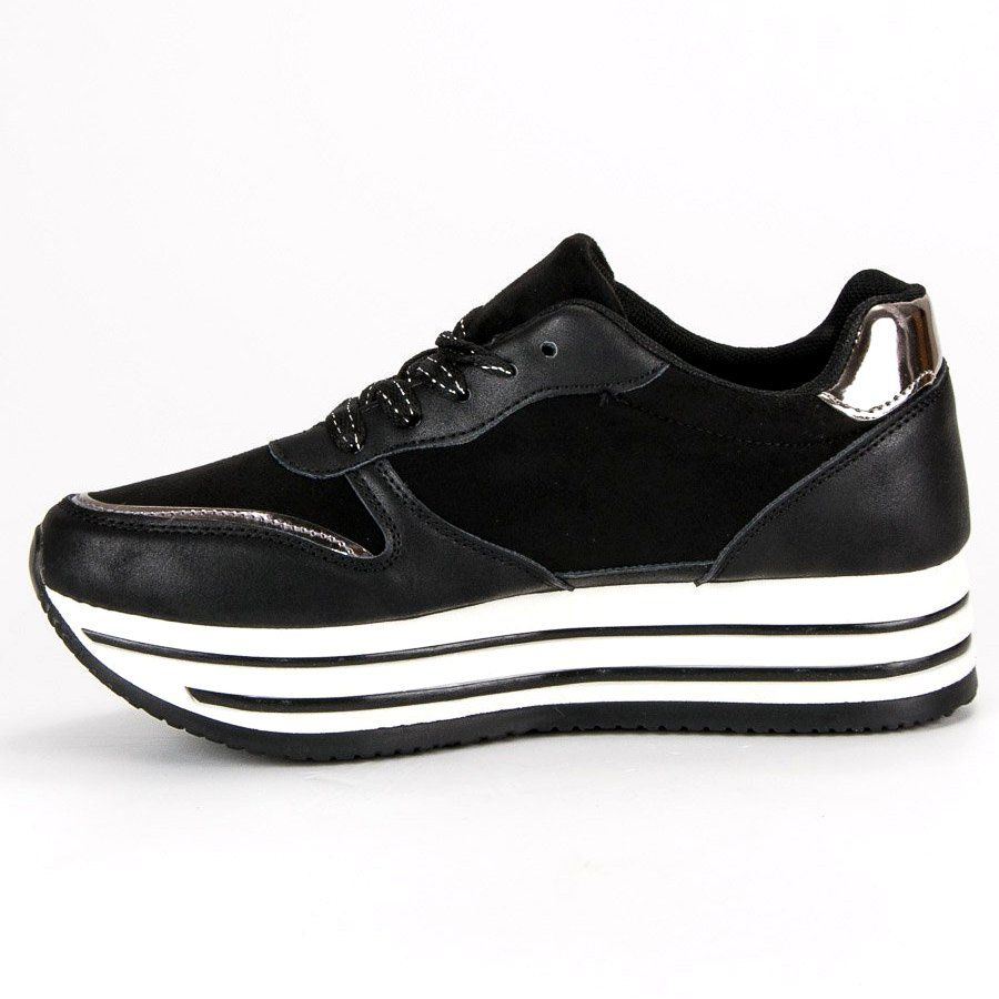 f7cd399871bfa #Trampki #Damskie #Butymodne #Czarne #Modne #Sneakersy #Na #Platformie