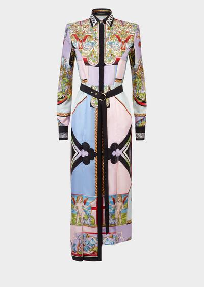755c777163 Angeli Print Maxi Shirt Dress - Versace Dresses | Steph's board in ...