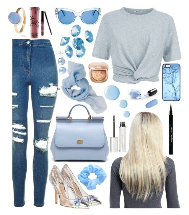 """Cinderelly: Cinderella"" by superswimmerca ❤ liked on Polyvore featuring Topshop, T By Alexander Wang, Dolce&Gabbana, Kate Spade, Latelita, Blue La Rue, Givenchy and Kylie Cosmetics"