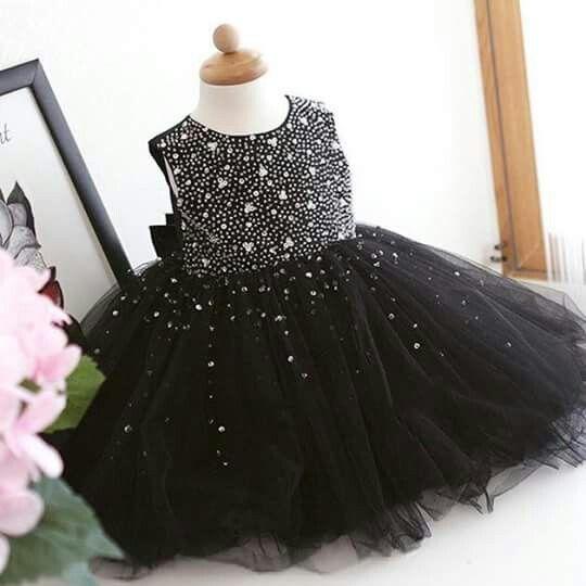 Vestido negro fiesta nina