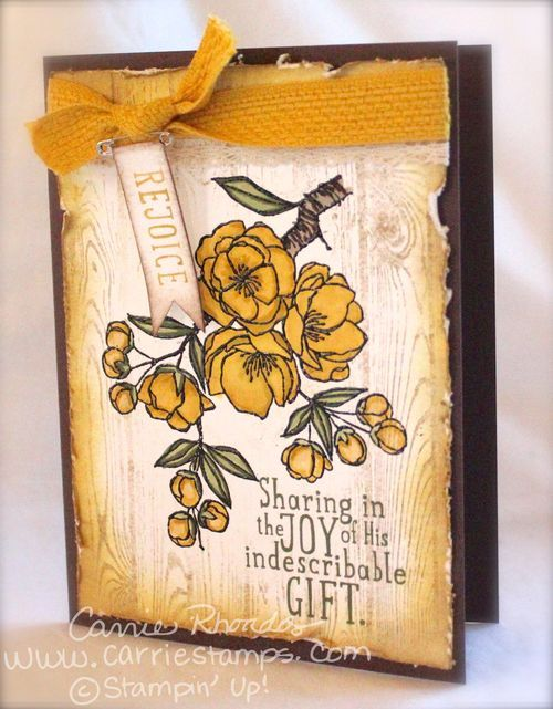Carrie Rhoades: Carrie Stamps – SSINKspiration Blog Hop: Anything Flowers - 3/11/15. (SU/ 2015 Occ: Indescribable Gift stamps