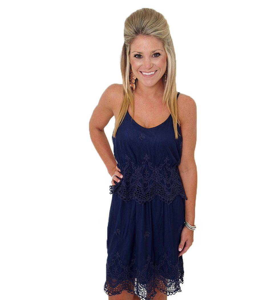 Lace dress navy blue  Navy lace dress perfect dress  MG Game day Glam  Pinterest  Navy
