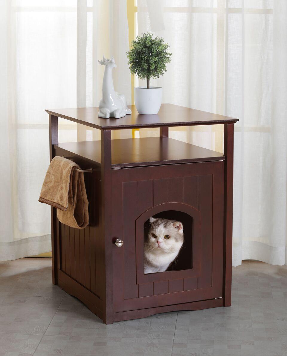 Cat washroom litter box covernight stand pet house
