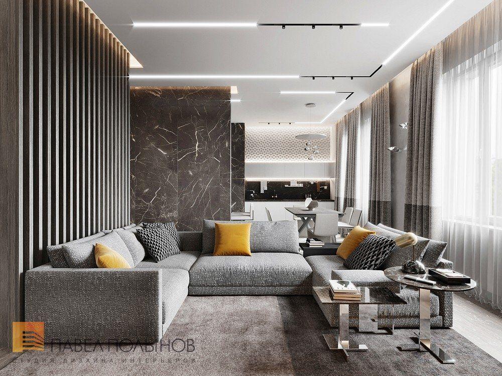 Фото гостиная из проекта «Дизайн квартиры 123 квм в ЖК «Duderhof