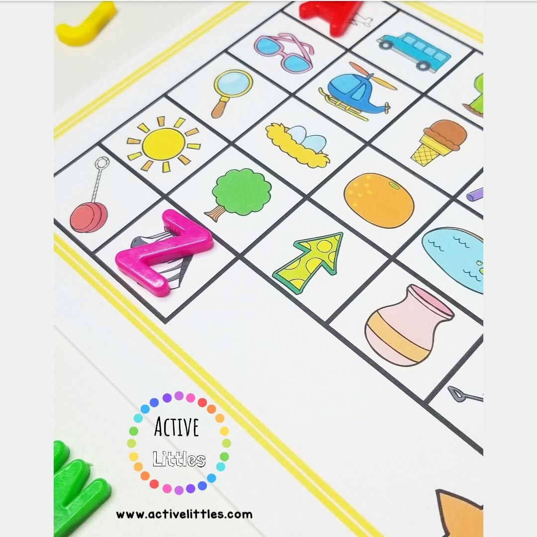 Summer Fun Alphabet Match Activity