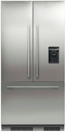 Rs36a72u1 Fisher Paykel 36 Activesmart French Door Built In Refrigerator With Ice Water 72 Tall C French Door Refrigerator Glass Shelves French Doors