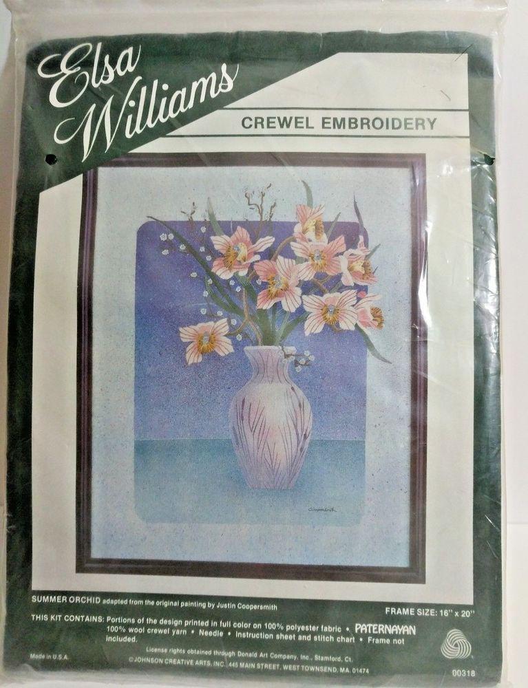 Elsa Williams Crewel Embroidery Kit 100 Crewel Yarn Instruction