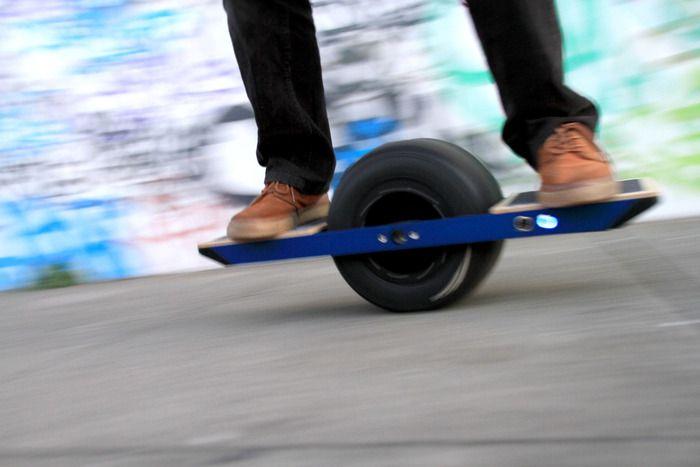 Electric Skateboard Rider
