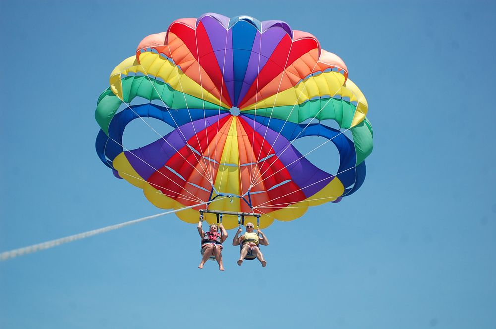 Fly high in the air and enjoy the views and the tranquility... add our parasailing to your bucket list ;)