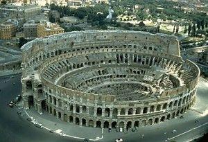 the coliseum in rome...