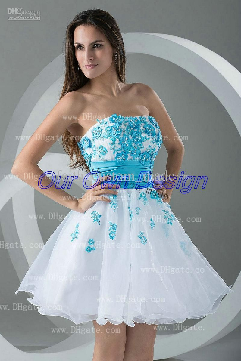 And White Party Dress