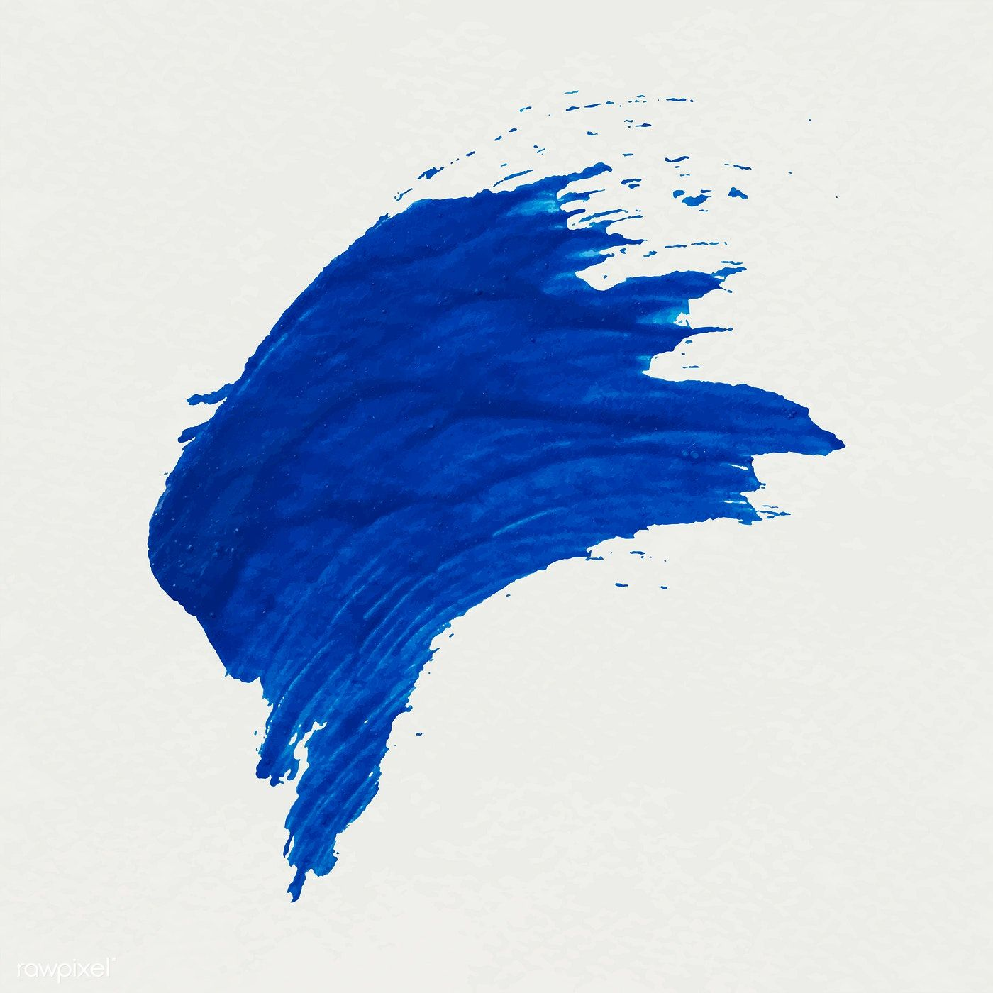 Blue Brush Stroke Sample Vector Free Image By Rawpixel Com Adj
