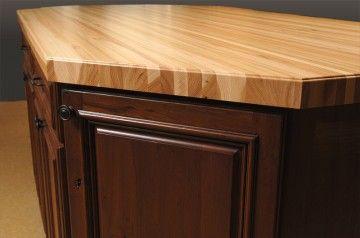 Custom Butcher Block Countertops Dark Brown Cabinets Butcher