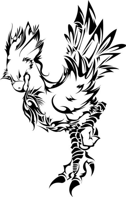 Abstract Chocobo Final Fantasy Tattoo Fantasy Tattoos Final Fantasy Artwork