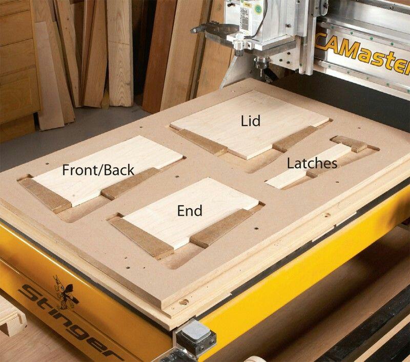 Oak Blanket Chest Woodworking Plans Jigs In 2019 Cnc