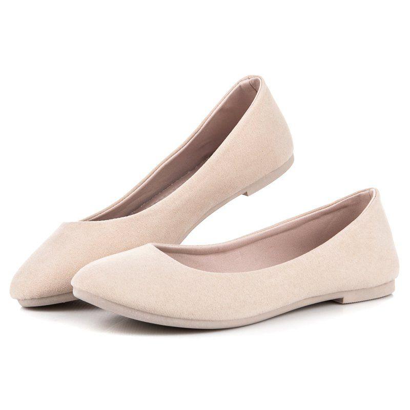 Seastar Wiosenne Baleriny Brazowe Flats Shoes Fashion