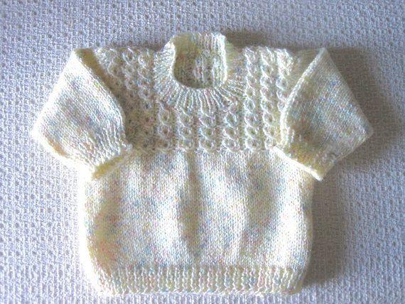 Photo of Jersey de punto bebé suéter, tamaño de la bolsa 3 meses, punto multi pastel coloreado bebé suéter, bebé niña suéter o bebé niño suéter