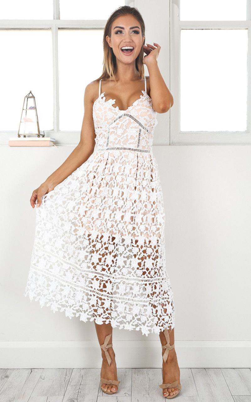 Summer White Out Lace Crochet Dress Fancy In 2019