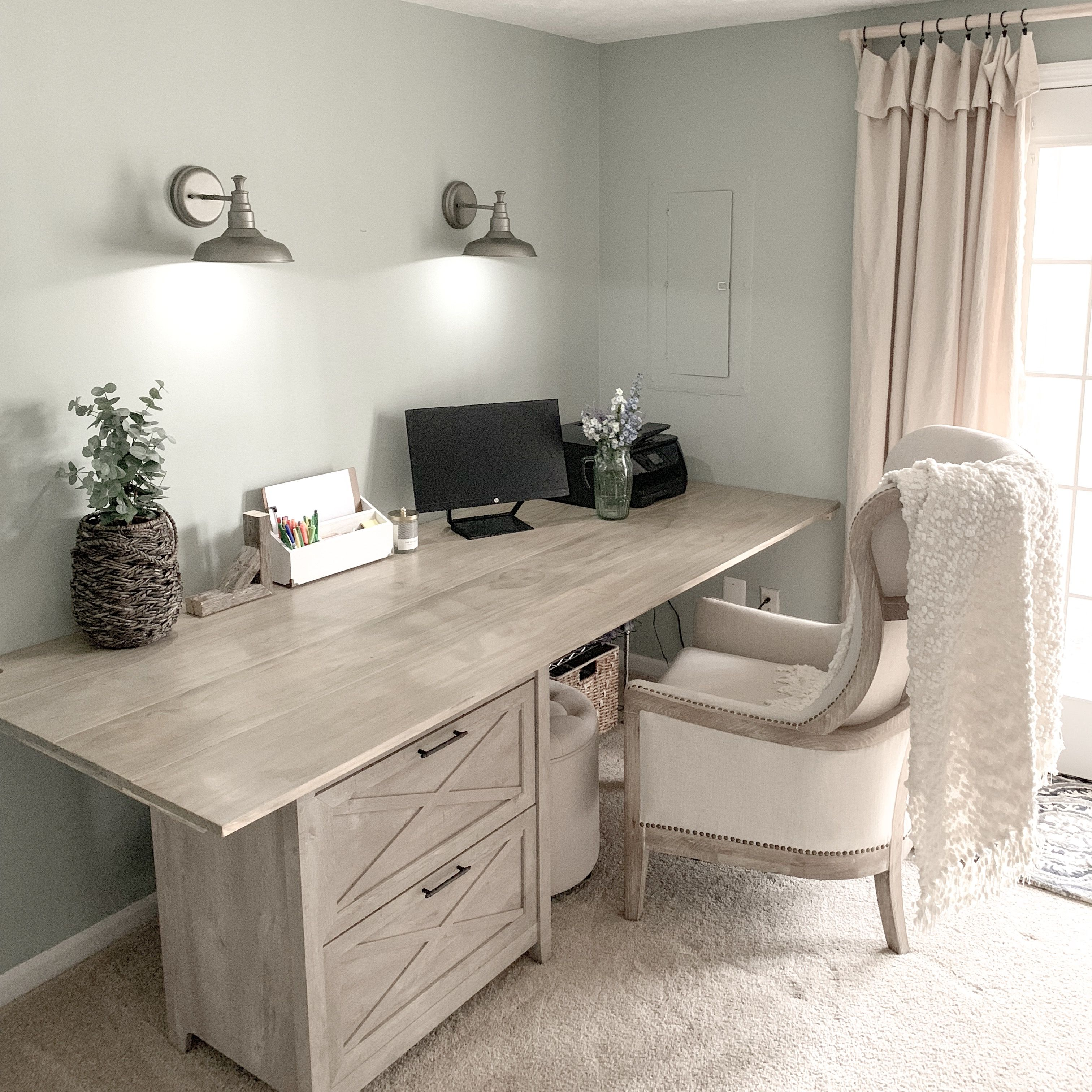DIY large farmhouse desk (With images) Home, Home decor