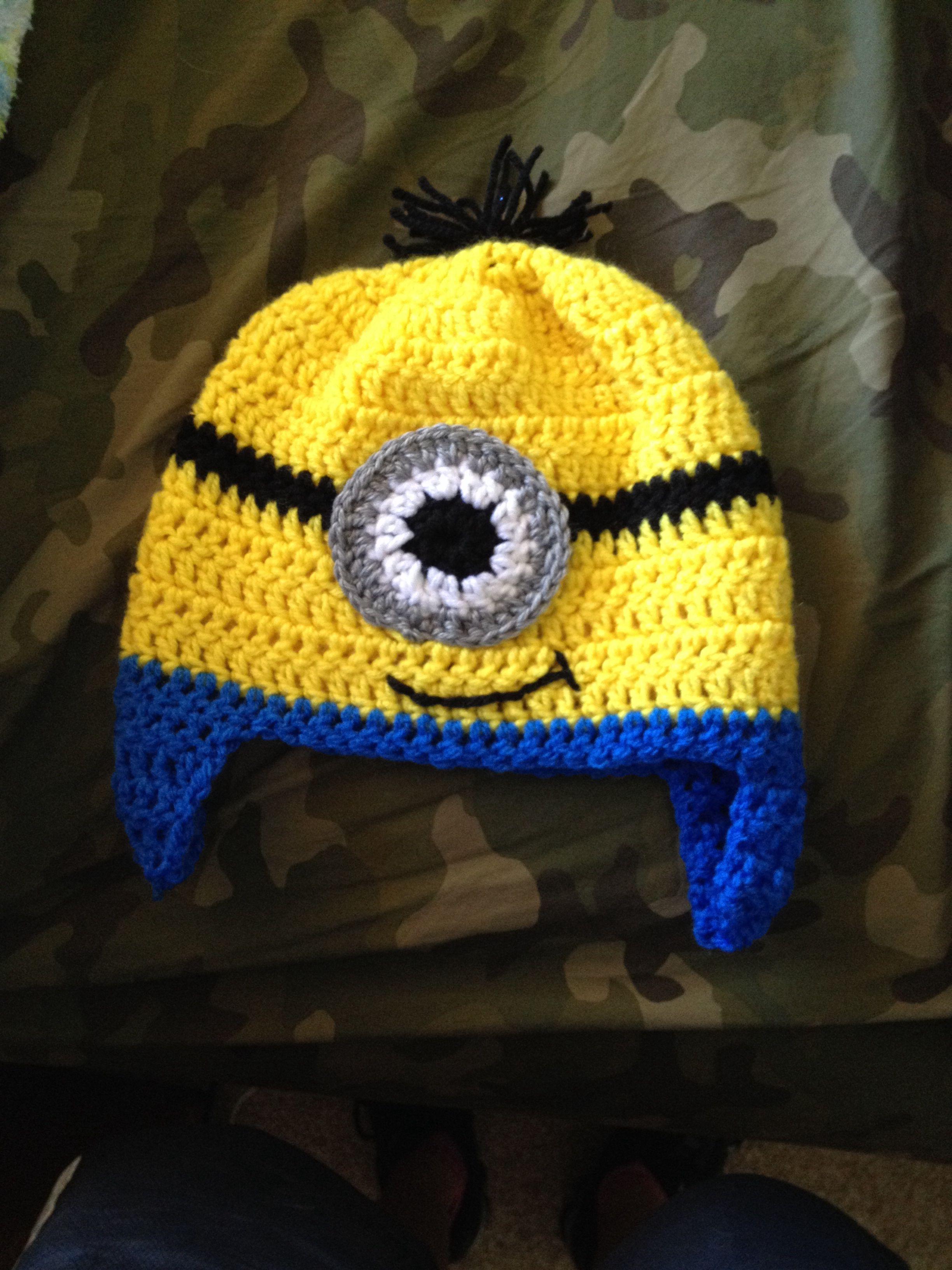 Minion crochet hat | tejidos para bebés | Pinterest | Gorros ...