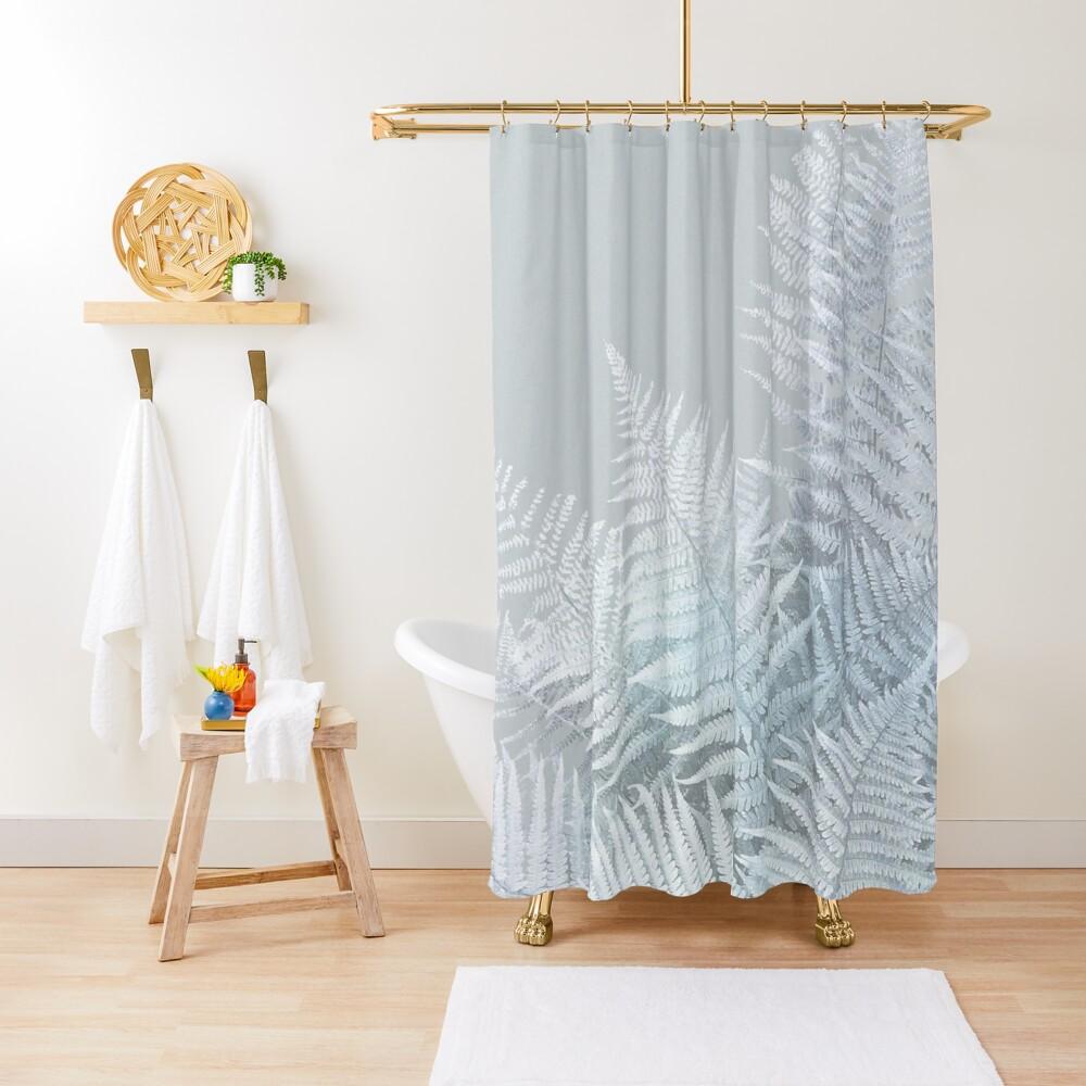 Frozen Fern Shower Curtain By Dominiquevari Shower Curtains Light Blue Flowers