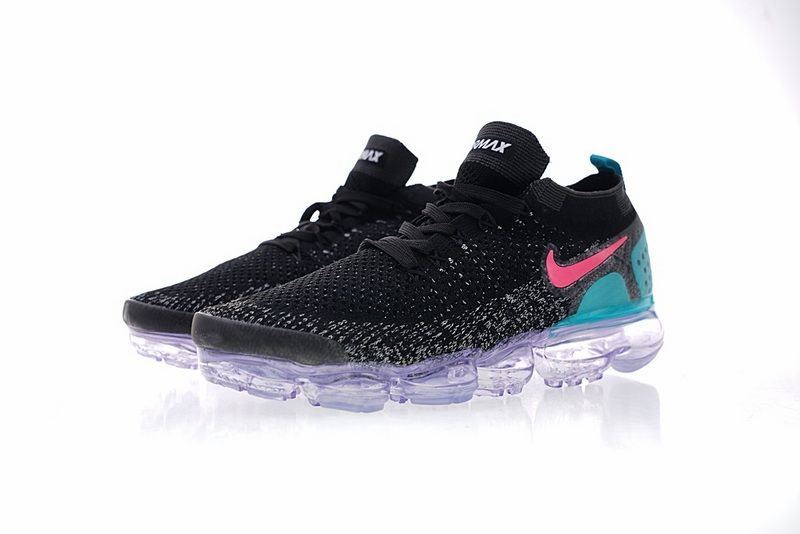1e331d035c Nike Air VaporMax Flyknit 2 0 Sneakers Black Pink Blue Purple 942842-003